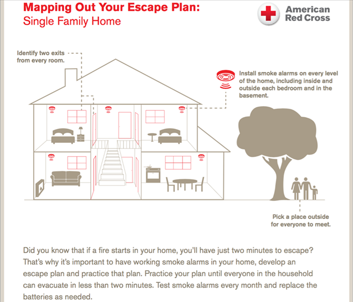 mapping out your escape plan servpro of quincy. Black Bedroom Furniture Sets. Home Design Ideas